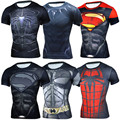 Novo 2017 verão de fitness compressão camisa de super-heróis em quadrinhos superman capitão américa em 3d t shirt homens t-shirt marca clothing cossfit