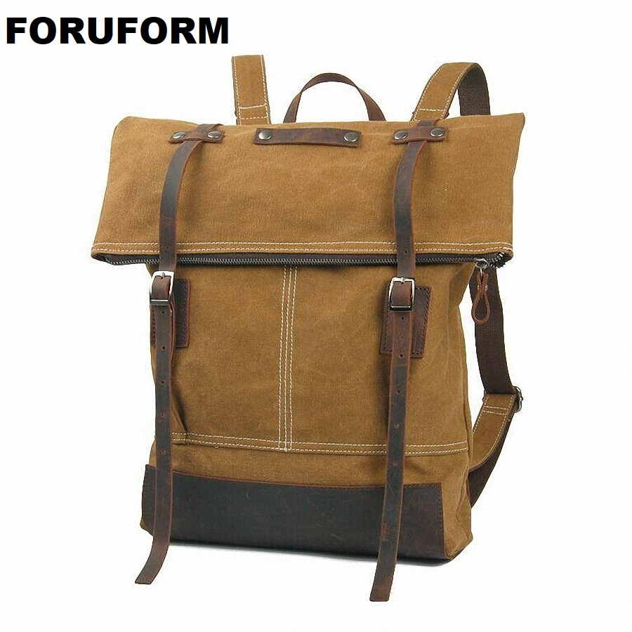 Men Male Pretty Style Canvas College School Student Backpack Casual Laptop Backpack Rucksack Fashion Men Travel Backpack LI-1262 prahl michael mastering private equity