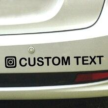 Personalized Custom Instagram Username Waterproof Car and Motorcycle Decals Bumper Sticker