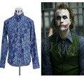 Batman The Dark Knight Joker Shirt Cosplay Costume  Men's long Sleeve Shirt Hexagon printing