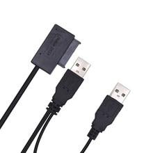 Câble de disque dur SATA vers USB Sata adaptateur Usb USB2.0 vers SATA 6 + 7 13PIN alimenté par câble SATA Molex
