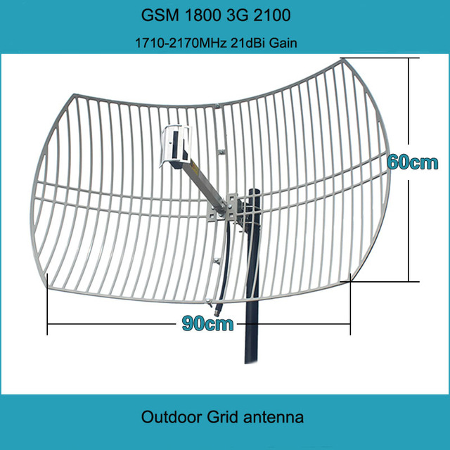 dce73fb605dabf GSM 1800 WCDMA 2100 2G 3G 4G LTE Outdoor Grid Antenna 21dBi 4G Antenna  External Antenna For Mobile Phone Signal Booster Repeater