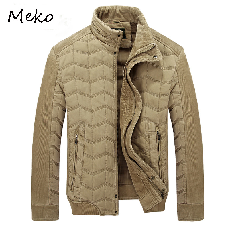 Brief Paragraph Warm Down Cotton-Padded Jacket men,Ultra Light Thin Winter Fashion Outerwear parka coat men MC020