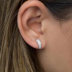 Sdzstone Women's Lovely Crescent moon Stud Earrings horn Earrings Jewelry Gifts direct delicate dainty gold cz earing