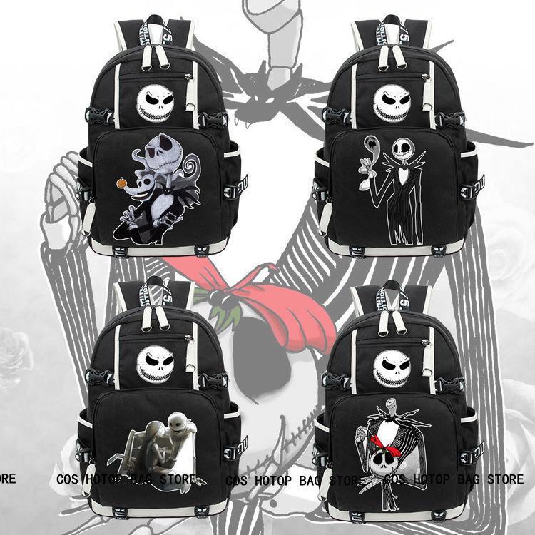 new the nightmare before christmas backpack knapsack black packsack school bag image - Nightmare Before Christmas Backpack