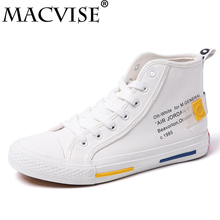 High Top Men Canvas Sneakers Flats Breathable Vulcanize Shoes for Men Fall Lace Up Retro Shoes Leisure Skate Boarding Pure Shoes