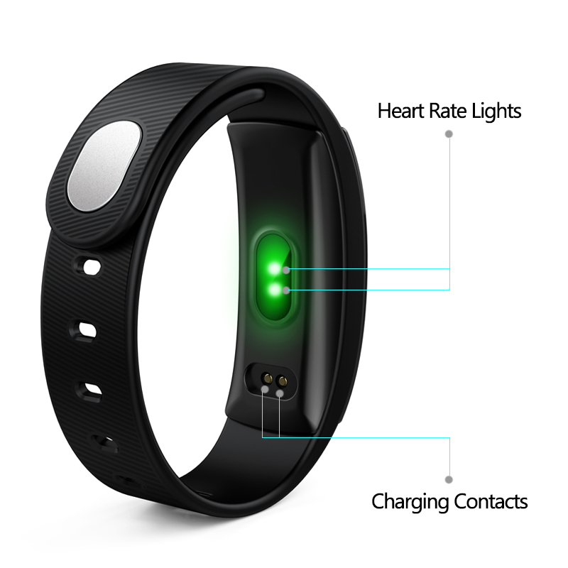 Smart Watches OGEDA QS80 Brand Bracelet Wristband Bluetooth Heart Rate Message Reminder Sleep Monitoring For iPhone Android