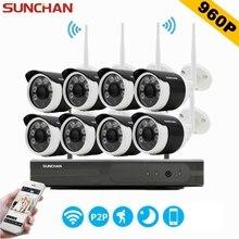 SUNCHAN CCTV Система 960 P 8-канальный HD Беспроводной NVR Открытый ИК ночного Видения 1280*960 Ip-камеры WiFi Камера Kit Главная Безопасность система