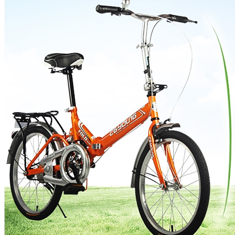 Folding Bicycle High Quality Carbon Steel 20 Inches Carrying Back Seat Can Be Manned Carrying Back Seat Can Be Manned