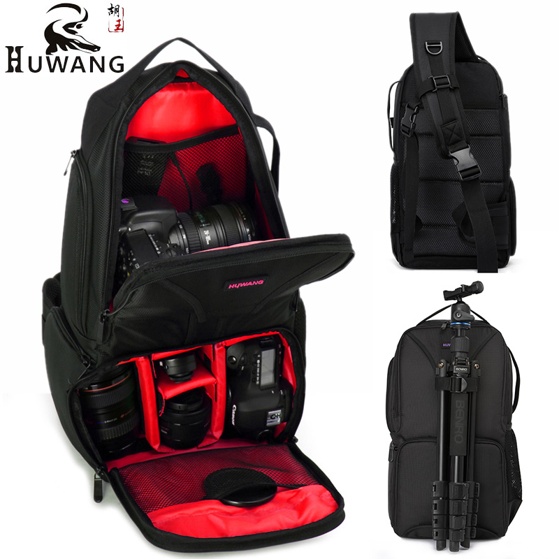 Upgrade Large Capacity Triangular Camera Video Bag DSLR Waterproof Backpack Anti-shock Rucksack Photo Mochila for Nikon Canon fly leaf camera bag backpack anti theft camera bag with 15 laptop capacity for dslr slr camera