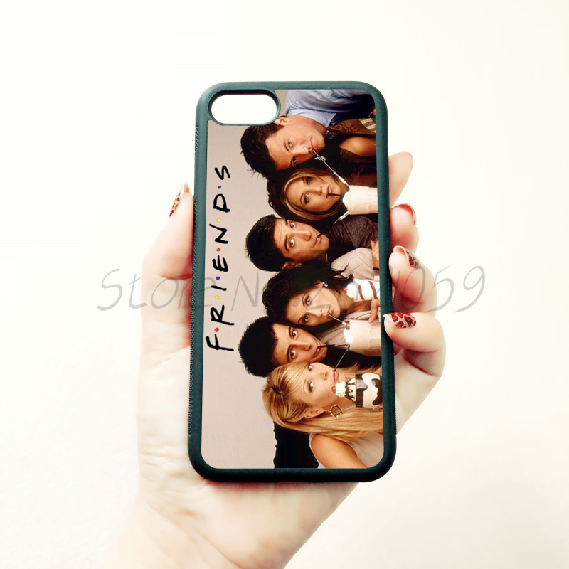 <font><b>Friends</b></font> <font><b>TV</b></font> <font><b>show</b></font> soft edge <font><b>phone</b></font> <font><b>case</b></font> for iphone x 5c 5s se 6 6s 6plus 6splus 7 7plus 8 8plus black silicone cover <font><b>case</b></font> B4041