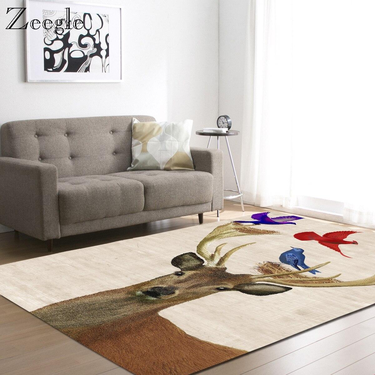 Zeegle tapis moderne pour salon salon tapis de sol dessin animé intérieur grande taille enfants chambre tapis 3D imprimé tapis lavable