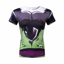 2016 animated cartoon compression short sleeve T-shirt male adolescents dragonball super Isaiah kung fu with short sleeves