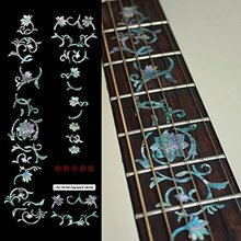 Fretboard Markers Inlay Sticker Decals for Guitar – Oriental Flowers-Mix