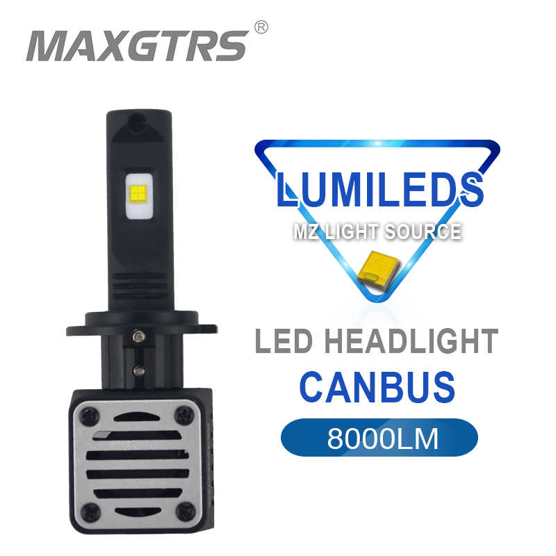 2x 80W H4 H7 H8 H11 9005 HB3 9006 HB4 D1 D2 D3 D4S R Car LED Headlight Bulb Canbus 8000LM 6000K Replacement Front Lamp