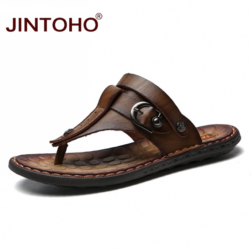JINTOHO Sandals Shoes Slippers Male Casual Fashion Summer Mens Brand Cheap