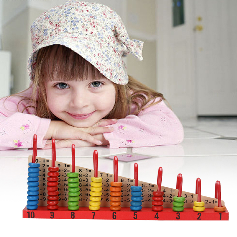 Kids Wooden Toys Child Abacus Counting Beads Maths Learning Educational Toy Math Toys Gift For Kids Intelligence Development new children kids puzzle learning developmental versatile flap abacus wooden toys wood educational learning cock tool fci