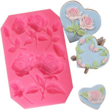 TTLIFE 3D Rose Flower Silicone Fondant Mold Cake Decor Chocolate Sugarcraft Baking for Wedding Decorating Tools