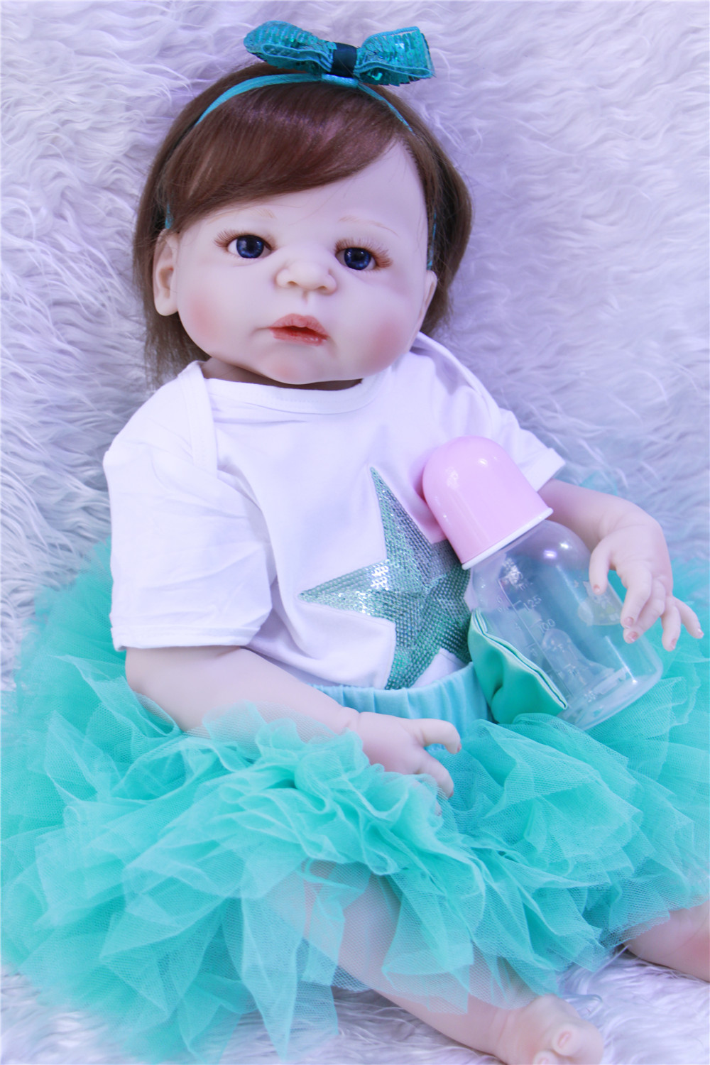 Girl bebe alive reborn 2357cm silicone reborn baby dolls toys for children gift rooted hair can bathe brinquedo meninaGirl bebe alive reborn 2357cm silicone reborn baby dolls toys for children gift rooted hair can bathe brinquedo menina