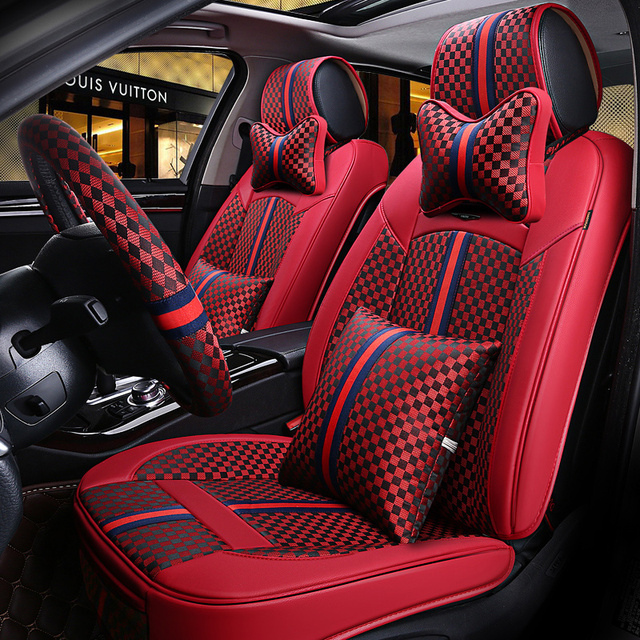 6D Sport Car2018New Seat Cover General CushionSenior LeatherCar Styling For BMW Audi
