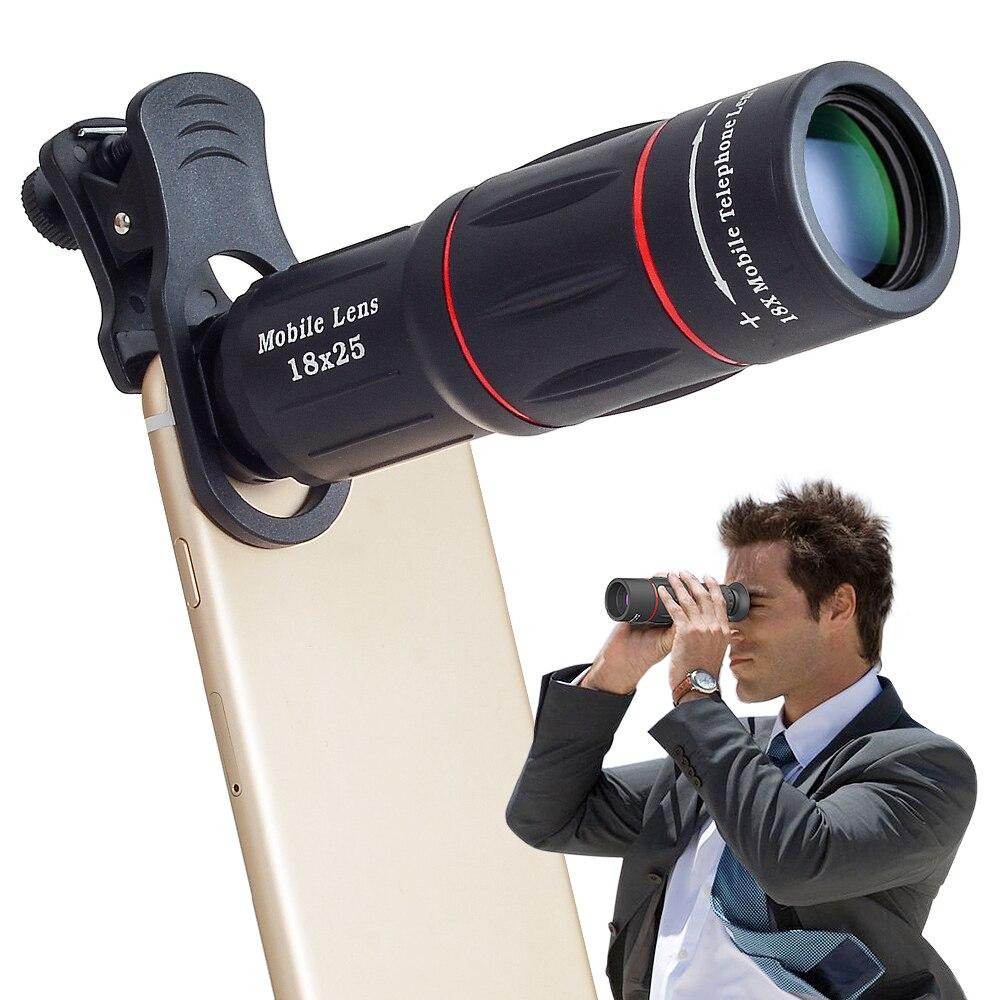 Apexel 18X телескоп зум Объективы для телефонов для iphone Samsung смартфонов Универсальный зажим телефон Объективы для фотоаппаратов с штатив 18 xtzj