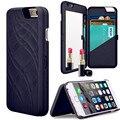 Mais novo Luxo Lady Make Up Espelho 3D Dual Layer Carteira Slot Para Cartão Tampa Do caso Para Sam Galaxy S7/7 ED Para iphone 7/7 Plus/6/6 s Plus