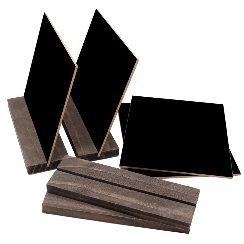 Wooden Mini Blackbord Wood Base Stand Rustic Style Tabletop Chalkboard Small Sign Name Card 15.3x12.7x4.6