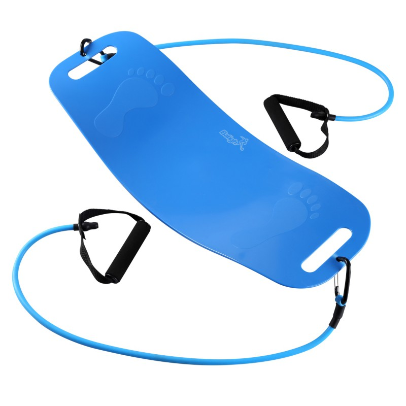 Balight Men Women Yoga Board with Rope Abs Legs Core Workout Balance Board Belly Arm Fitness Exercise for Home Gym
