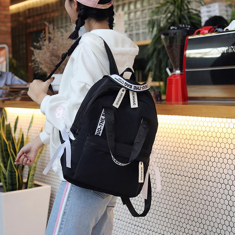 Menghuo Large Capacity Backpack Women Preppy School Bags For Teenagers Female Nylon Travel Bags Girls Bowknot Backpack Mochilas (22)