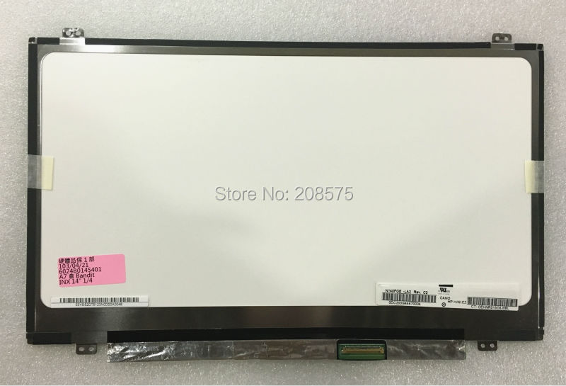 Free Shipping ! Brand new 14 LCD Screen N140FGE-LA2 N140FGE-EA2 B140RTN02.3 B140RTN03.0 LP140WD2-TPB1 / TPS1 1600x900 free shipping brand new laptop b cover for lenovo rescuer 14 y41 70 series lcd bezel front frame screen lid b shell