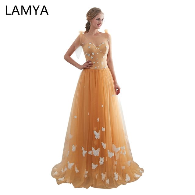 Gold Butterfly Dresses