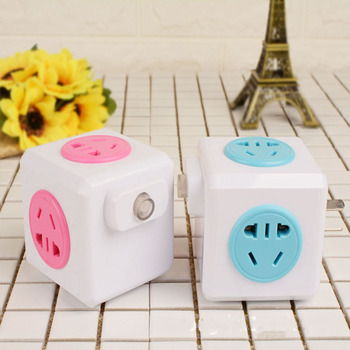 New US/EU Plug Wireless Smart Home Office Travel Automation PowerCube Module SquareCube 4 Outlets Power Strip Switch Socket image