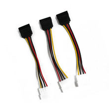 NEW 3 IDE to Serial ATA SATA Hard Drive Power Adapter Cable