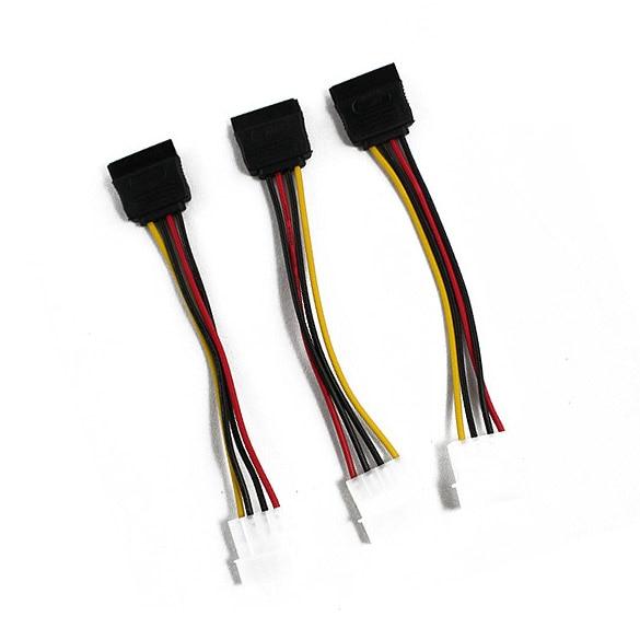 NEW 3 IDE to Serial ATA SATA Hard Drive Power Adapter Cable 4pin ide to 2 serial ata sata y splitter hard drive power adapter cable