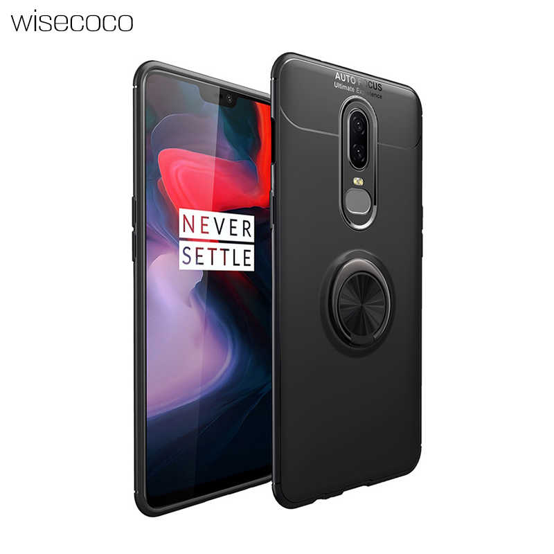 bca6b0c2f7c Case For Oneplus 6 a6000 Magnetic Car Holder Stand Cover Luxury Original  Silicone TPU Shockproof Phone