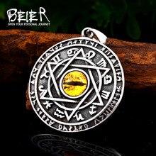Pendant Necklace Charm Stone Eye-Jewelry Viking Stainless-Steel Demon Beier Star Men