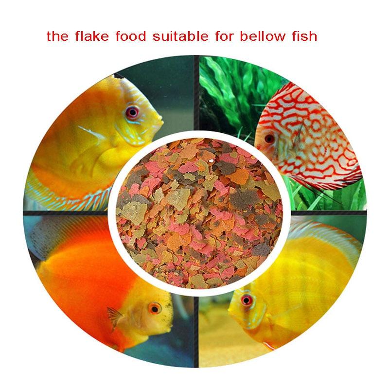 Free Shipping Tropical Fish Smallfish Flake Fish Food Guppy Batta Peacock Snapper Betta Feed Food 150g For Wholesale