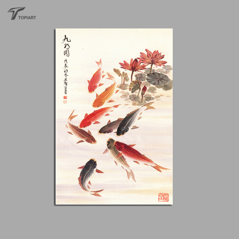 Online buy wholesale koi fish painting from china koi fish for Wholesale koi fish for sale