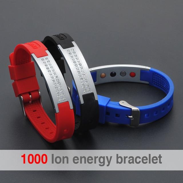 Scalar Quantum Bio Elements Energy Bracelet For Man Power Bands Energy Bracelets With Keep Balance Magnetic Silicone Wristband