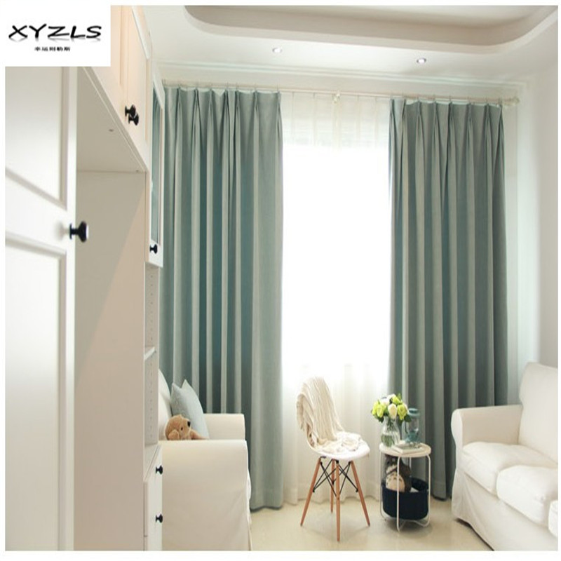 Bedroom Curtains Solid Color Japan Window Shades Imitation: XYZLS Modern Style Solid Color Thermal Insulated Blackout