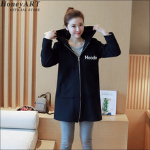 Long-sleeved hoodie women loose cardigan sweater female sports jacket  Women's fashion casual loose zipper DD425X
