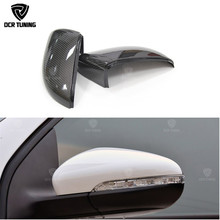 For Volkswagen VW Golf 6 GTI R20 2008 - 2012 Without Lane Assit Carbon Fiber Mirror Cover 1: 1 Replacement & Add On Style Cover