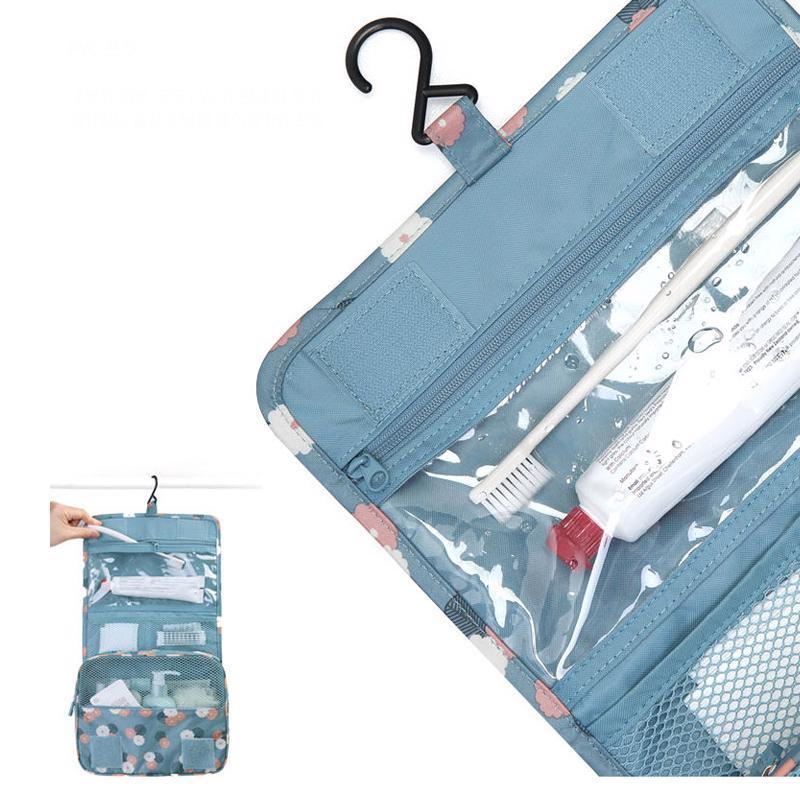 Image 4 - Hanging Toiletry Kit Clear Travel Storage Bag Cosmetic Carry Toiletry Pockets For Womens Wash Bag Traveling Wall Storage-in Storage Bags from Home & Garden