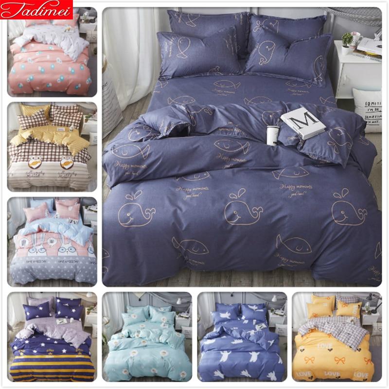 Power Source Frugal Double Big Size King Queen Full Twin Single Duvet Cover Bedding Set 3pcs/4pcs Bed Linens Kids Child Bedlinen Soft Cotton 200x230