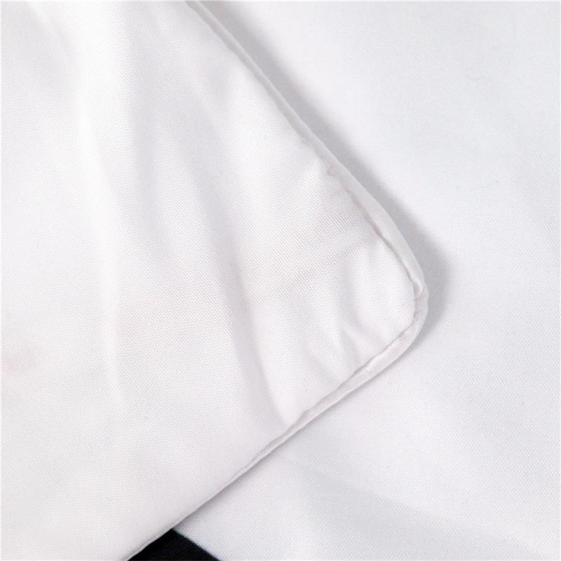 Qara və ağ rəngli yorğan örtüyü yastıq çantası məktubları - Ev tekstil - Fotoqrafiya 5