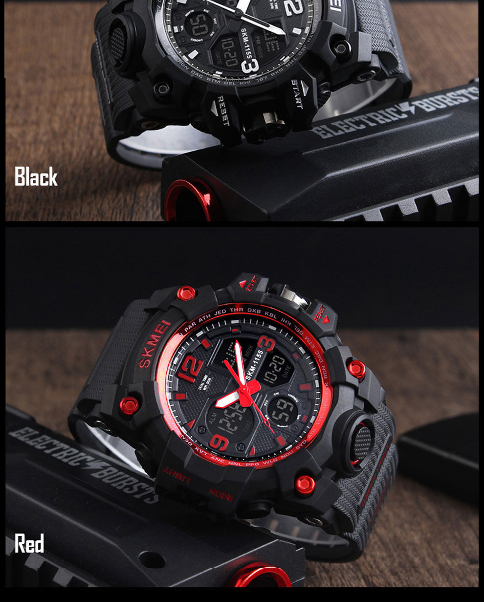 HTB1 eBtRwHqK1RjSZFPq6AwapXa7 SKMEI Brand Luxury Military Sports Watches Men Quartz Analog LED Digital Clock Man Waterproof Dual Display Wristwatches Relogio
