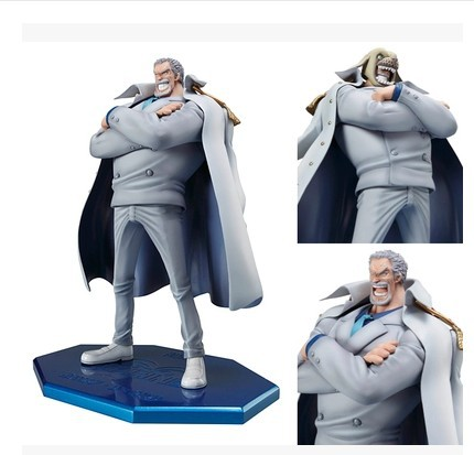 Hot 1pcs 25cm pvc Japanese anime figure one piece Monkey D Garp Luffy's grandpa action figure collectible model toys brinquedos anime one piece arrogance garp model pvc action figure classic collection garage kit toy doll