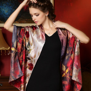 Image 3 - DANKEYISI 100% morwy długi szalik kobiety jedwabny szal luksusowy szalik markowy szal szale jedwabne długa z nadrukiem szale okrycie plażowe