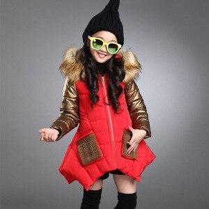 Image 4 - Abrigo grueso impermeable de invierno para niños, ropa de abrigo para niños, chaquetas para bebés de 2 a 14 años