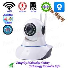 HD 1080 PWIFI 720 P IR Led PT Kamera ONVIF Gece Görünümü P2P IP kamera IR Ağ CCTV Alarm Kam 64G SD Kart Canlı konuşma AP Sıfırlama Kapalı